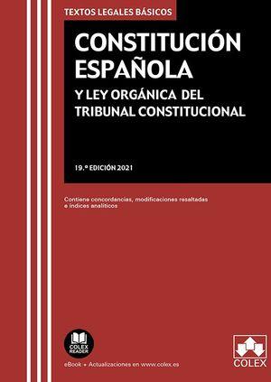 CONSTITUCION ESPAÑOLA Y LEY ORGANICA DEL TRIBUNAL CONSTITUCIONAL