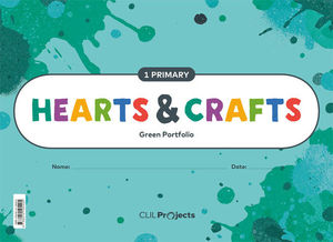 HEARTS & CRAFTS GREEN NOTEBOOK 1 PRIMARIA