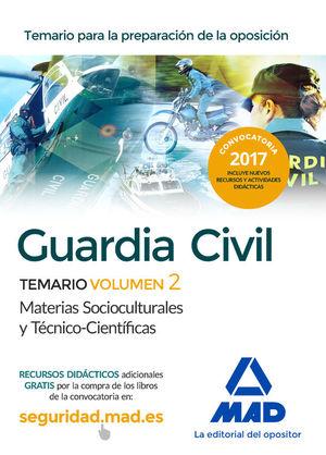GUARDIA CIVILTEMARIO PARA LA PREPARACIÓN DE OPOSICIÓN. CIENCIAS JURÍDICAS VOLUME