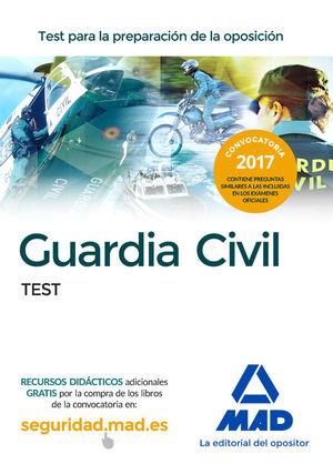 GUARDIA CIVIL. TEST PARA LA PREPARACIÓN DE OPOSICIÓN