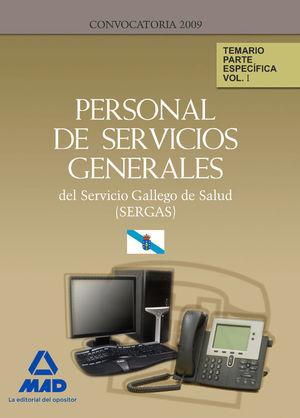 PERSONAL DE SERVICIOS GENERALES DEL SERVICIO GALLEGO DE SALUD (SERGAS). TEMARIO