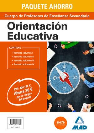 PAQUETE AHORRO ORIENTACIÓN EDUCATIVA CUERPO DE PROFESORES DE ENSEÑANZA SECUNDARI