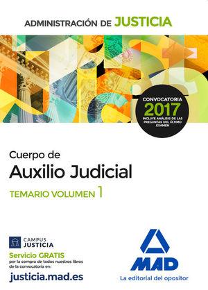 CUERPO DE AUXILIO JUDICIAL. TEMARIO VOLUMEN 1