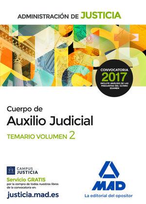 CUERPO DE AUXILIO JUDICIAL. TEMARIO VOLUMEN 2