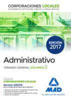 ADMINISTRATIVO CORPORACIONES LOCALES. TEMARIO GENERAL VOLUMEN 2