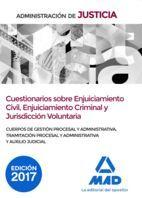 ADMINISTRACION DE JUSTICIA. CUESTIONARIOS SOBRE ENJUICIAMIENTO CIVIL