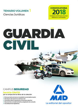 GUARDIA CIVIL TEMARIO VOLUMEN 1