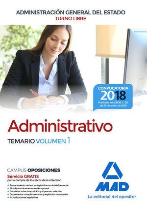 ADMINISTRATIVO DE LA ADMINISTRACIÓN GENERAL DEL ESTADO. TEMARIO 1