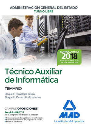 T�CNICO AUXILIAR DE INFORM�TICA DE LA ADMINISTRACI�N GENERAL ESTADO