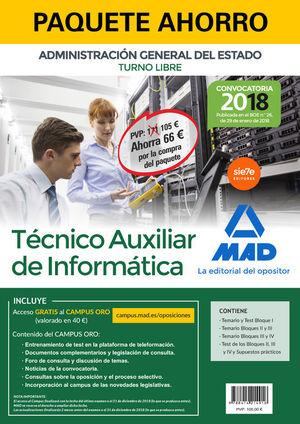 PAQUETE AHORRO TÉCNICO AUXILIAR DE INFORMÁTICA DEL ESTADO (TURNO LIBRE). AHORRO