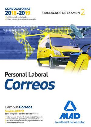 PERSONAL LABORAL DE CORREOS Y TELÉGRAFOS. SIMULACROS DE EXAMEN 2