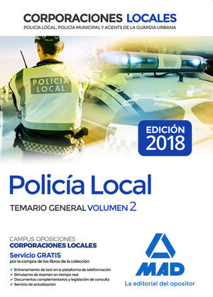 POLICÍA LOCAL. TEMARIO GENERAL VOLUMEN 2