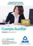CUERPO AUXILIAR XUNTA DE GALICIA ADMINISTRACION GENERAL TEMARIO 2