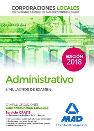 ADMINISTRATIVO DE CORPORACIONES LOCALES. SIMULACROS DE EXAMEN