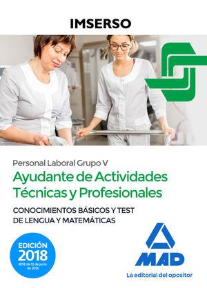 AYUDANTES DE ACTIVIDADES TECNICAS Y PROFESIONALES DEL IMSERSO (PERSONAL LABORAL