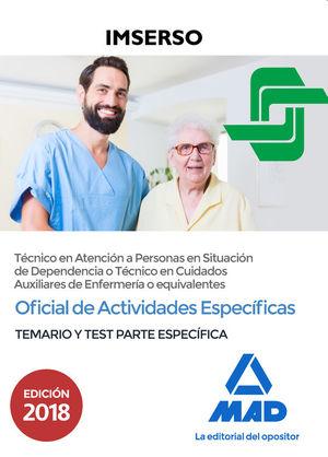 OFICIAL DE ACTIVIDADES ESPECÍFICAS (TÉCNICO EN ATENCIÓN A PERSONAS EN SITUACIÓN