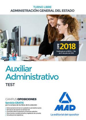 AUXILIAR ADMINISTRATIVO DE LA ADMINISTRACIÓN GENERAL DEL ESTADO (TURNO LIBRE). T