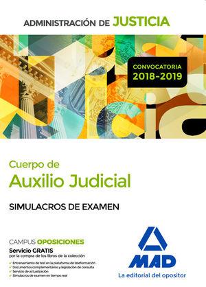 CUERPO DE AUXILIO JUDICIAL DE LA ADMINISTRACION DE JUSTICIA. SIMULACROS EXAMEN