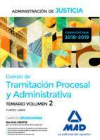 CUERPO DE TRAMITACION PROCESAL Y ADMINISTRATIVA TEMARIO VOL 2