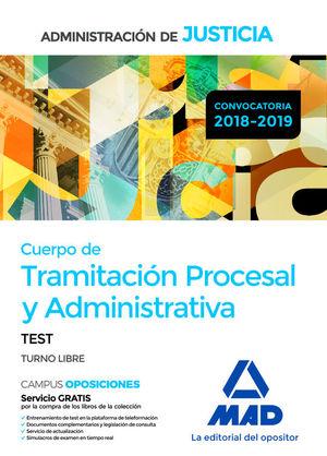 CUERPO DE TRAMITACIÓN PROCESAL Y ADMINISTRATIVA. TEST