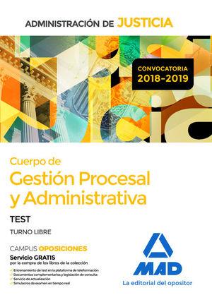 CUERPO DE GESTION PROCESAL Y ADMINISTRATIVA. TEST