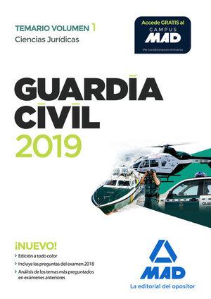 GUARDIA CIVIL. CIENCIAS JURÍDICAS TEMARIO VOLUMEN 1