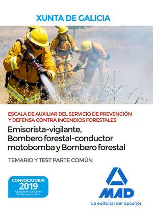 ESCALA DE AUXILIAR DEL SERVICIO DE PREVENCIÓN Y DEFENSA CONTRA INCENDIOS FORESTA