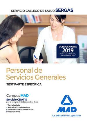 PERSONAL DE SERVICIOS GENERALES SERGAS. TEST PARTE ESPECÍFICA