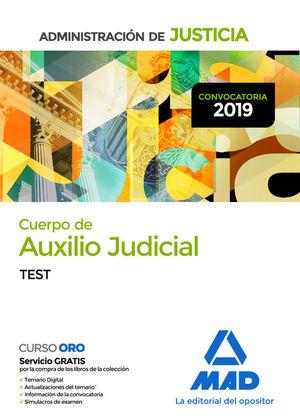 CUERPO DE AUXILIO JUDICIAL DE LA ADMINISTRACION DE JUSTICIA. TEST