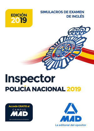 INSPECTOR DE POLICIA NACIONAL. SIMULACROS DE EXAMEN DE INGLES
