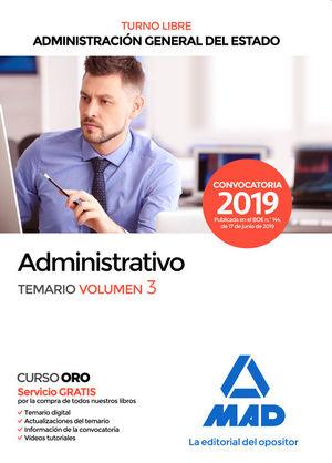 ADMINISTRATIVO DE LA ADMINISTRACIÓN GENERAL DEL ESTADO (TURNO LIBRE)