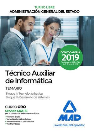 TÉCNICO AUXILIAR DE INFORMÁTICA ADM. GRAL ESTADO. TEMARIO BLOQUES II, III