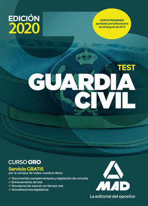 GUARDIA CIVIL. TEST. EDICIÓN 2020