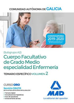 CUERPO FACULTATIVO DE GRADO MEDIO ESPECIALIDAD ENFERMERÍA SUBGRUPO A2