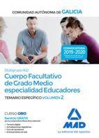 CUERPO FACULTATIVO DE GRADO MEDIO ESPECIALIDAD EDUCADORES. TEMARIO ESPECÍFICO 2