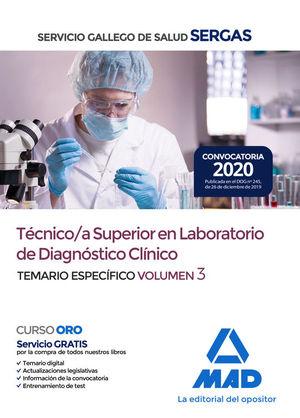 TÉCNICO/A SUPERIOR EN LABORATORIO DE DIAGNÓSTICO CLÍNICO SERGAS. TEMARIO ESPECÍFICO 3