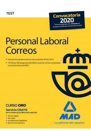 PERSONAL LABORAL DE CORREOS Y TELEGRAFOS. TEST