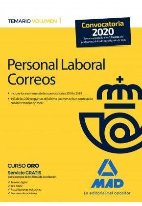 PERSONAL LABORAL DE CORREOS Y TELEGRAFOS. TEMARIO VOLUMEN 1