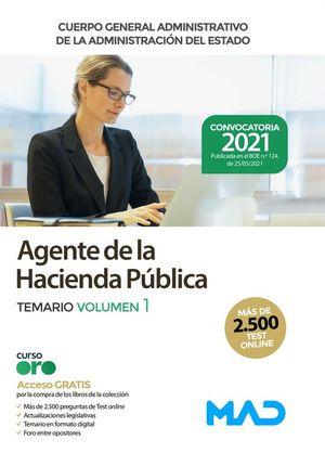 AGENTE DE LA HACIENDA PÚBLICA. TEMARIO VOL 1