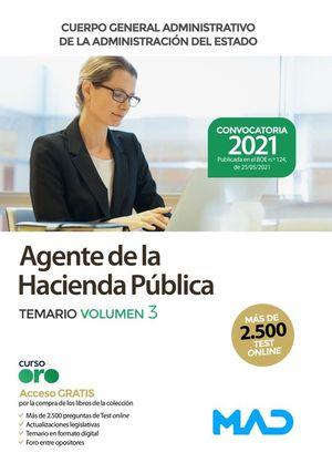 AGENTE DE LA HACIENDA PÚBLICA TEMARIO VOL 3