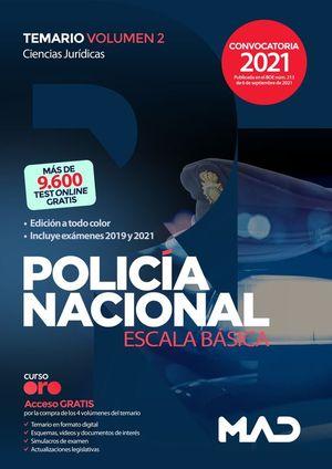 POLICIA NACIONAL ESCALA BASICA. TEMARIO VOLUMEN 2