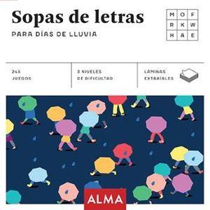 SOPAS DE LETRAS PARA DIAS DE LLUVIA