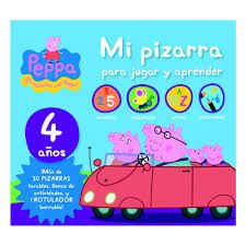 PEPPA PIG 4 AÑOS MI PIZARRA PARA JUGAR Y APRENDER