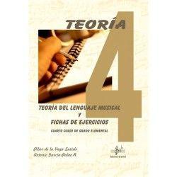 TEORIA LENGUAJE MUSICAL FICHAS EJERCICIOS. CUARTO CURSO DE GRADO ELEMENTAL