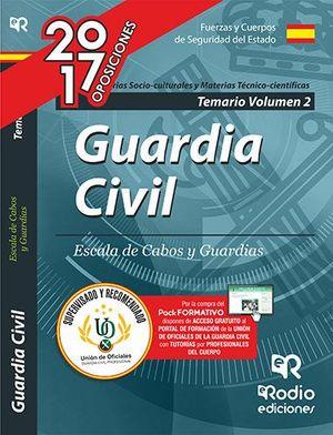 TEMARIO GUARDIA CIVIL. ESCALA DE CABOS Y GUARDIAS