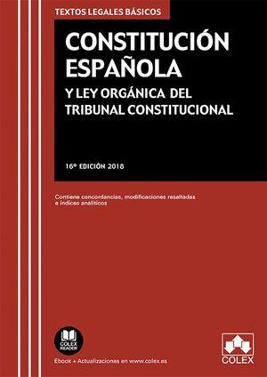CONSTITUCION ESPAÑOLA Y LEY ORGANICA TRIBUNAL CONSTITUCIONAL