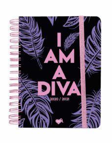 AGENDA ESCOLAR DIARIA 2020-2021 LA VECINA RUBIA. I AM A DIVA (AZUL)