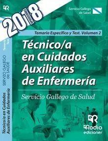 TECNICO CUIDADOS AUXILIARES ENFERMERIA SERGAS TEMARIO ESPECIFICO Y TEST VOL.2
