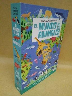 EL MUNDO DE LOS ANIMALES (LIBRO + PUZLE 200 PIEZAS)