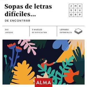 SOPA DE LETRAS DIFÍCILES DE ENCONTRAR (CUADRADOS DE DIVERSIÓN)